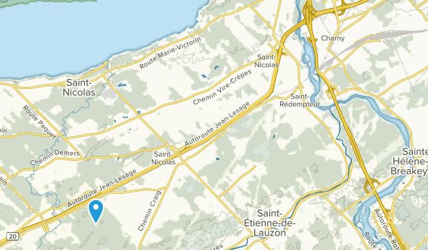 Saint-Etienne-de-Lauzon, Quebec Map