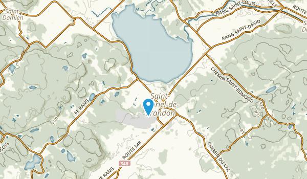 Saint-Gabriel-de-Brandon, Quebec Map