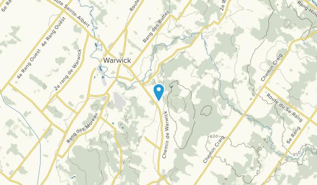 Warwick, Quebec Map
