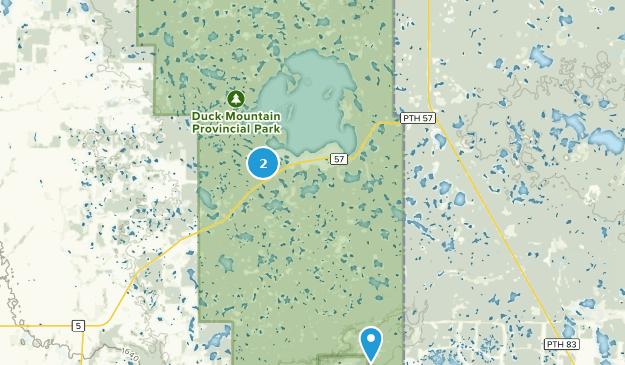 Duck Mountain Provincial Park, Saskatchewan Map