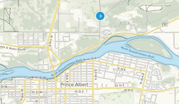 Prince Albert, Saskatchewan Map