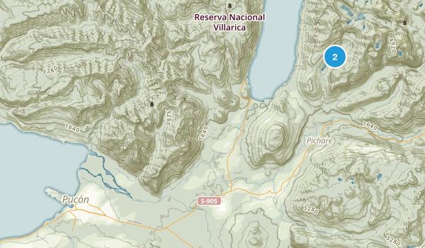 Pucón, La Araucanía Map