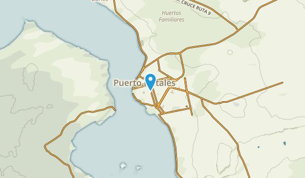 Natales, Magallanes y la Antártica Chilena Map