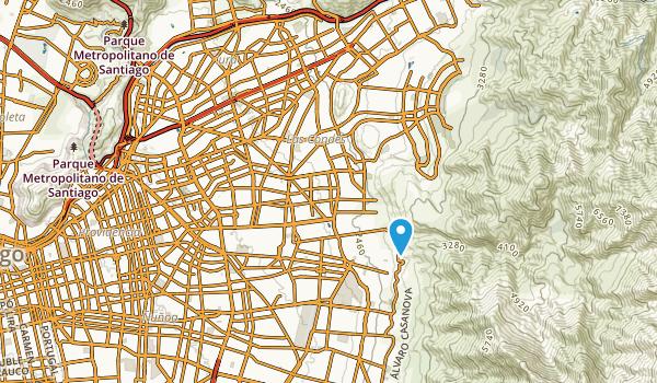 Las Condes, Santiago Metropolitan Map