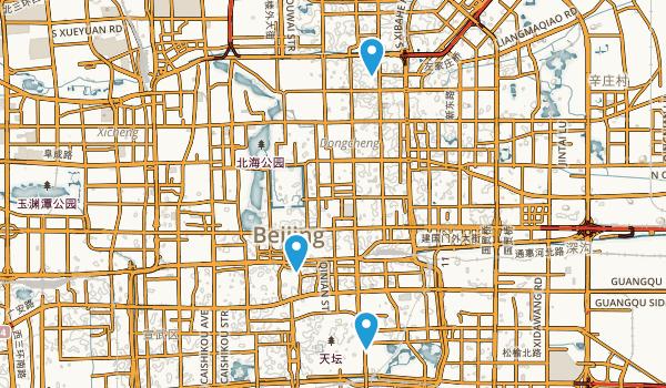 Chongwen Qu, Beijing Map