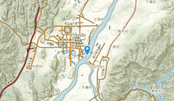 Yingde, Guangdong Map