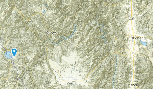 Liangshan Yizu Zizhizhou, Sichuan Map
