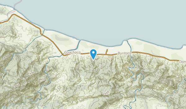 Buritaca, Magdalena Map