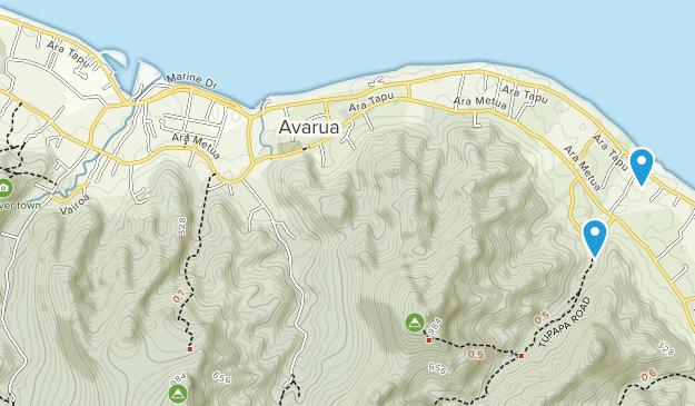 Pue, Rarotonga Map