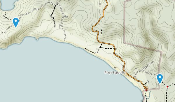 Manuel Antonio, Costa Rica Map