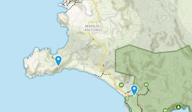 Manuel Antonio, Costa Rica Map