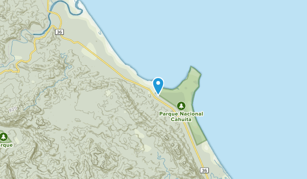 Cahuita, Limón Map