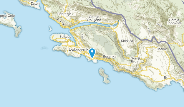 Dubrovnik, Dubrovacko-neretvanska Map