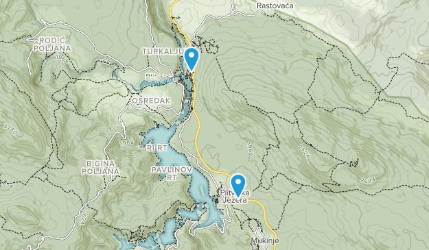 Plitvička Jezera, Licko-senjska županija Map