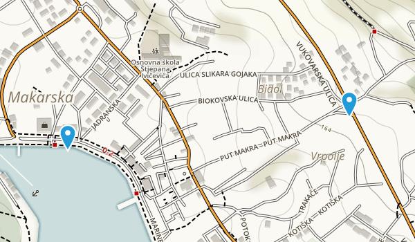 Makarska, Splitsko-Dalmatinska Map