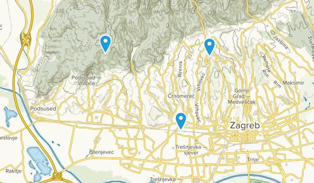 City of Zagreb, Zagrebacka županija Map