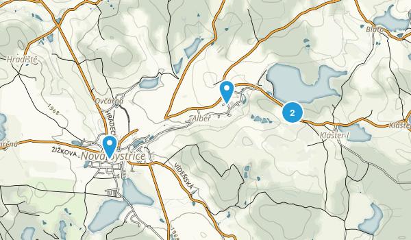 Albeř, Jihočeský Map