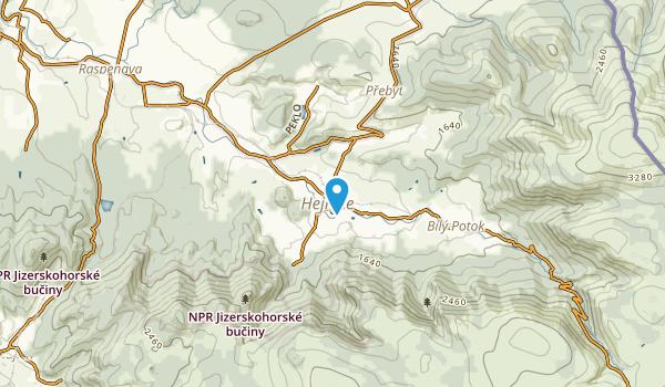 Hejnice, Liberecký Map