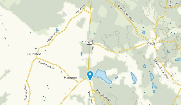 Hampen, Midtjylland Map