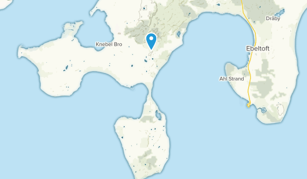Knebel, Midtjylland Map
