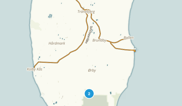 Samsø, Midtjylland Map