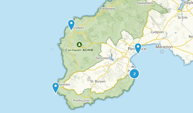 Map Of England Cornwall.Best Trails Near Penzance Cornwall England Alltrails