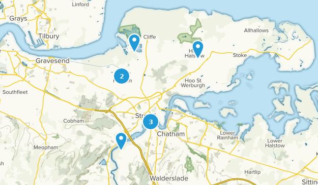 Map Of England Kent.Best Trails Near Rochester Kent England Alltrails