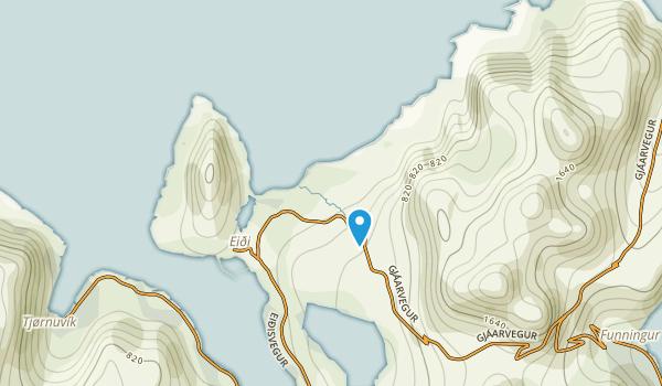 Eide, Eysturoyar Map