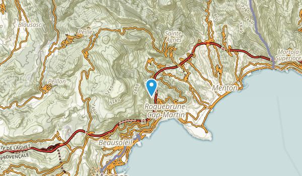 Roquebrune-Cap-Martin, Alpes-Maritimes Map