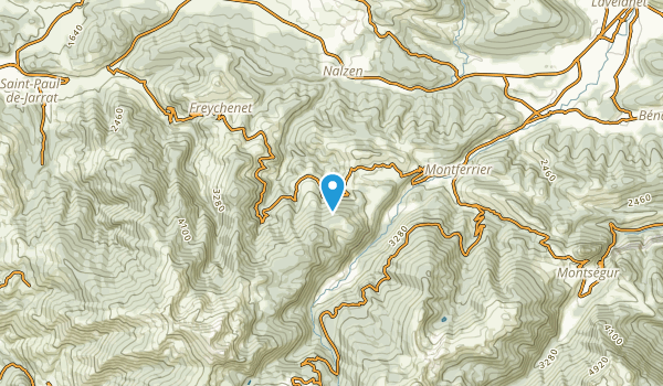 Freychenet, Ariège Map