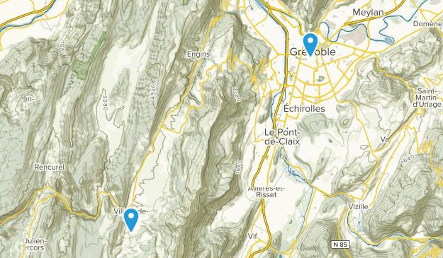 Grenoble, Auvergne-Rhône-Alpes Map