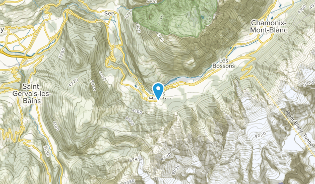 Les Houches, Auvergne-Rhône-Alpes Map