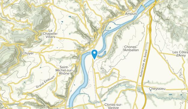 Les Roches-de-Condrieu, Auvergne-Rhône-Alpes Map