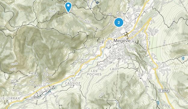 Megève, Auvergne-Rhône-Alpes Map