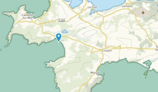 Crozon, Brittany Map