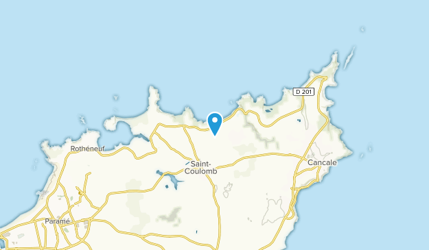 Saint-Coulomb, Brittany Map