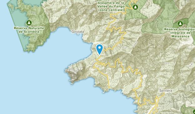 Osani, Corsica Map