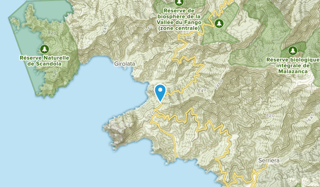 Tuara, Corsica Map