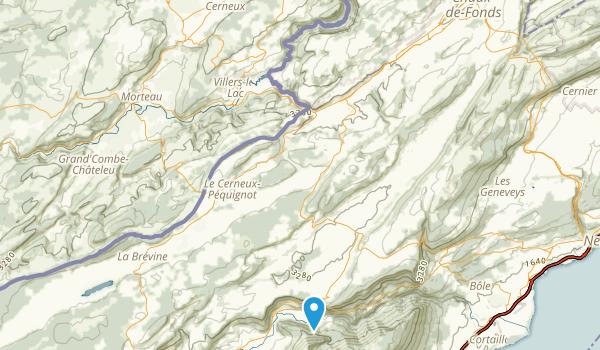 Villers-Le-Lac, Doubs Map