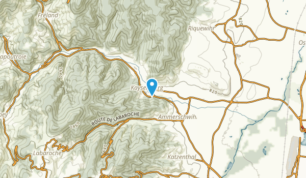 Kaysersberg, Haut-Rhin Map