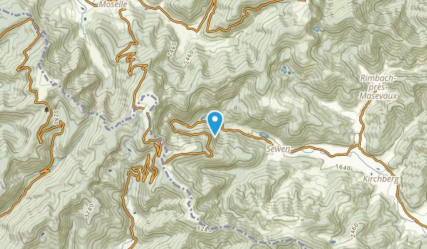Sewen, Haut-Rhin Map