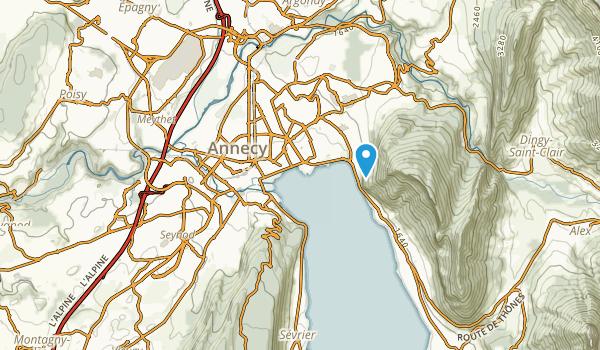 Annecy, Haute-Savoie Map