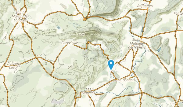 Cazevieille, Hérault Map
