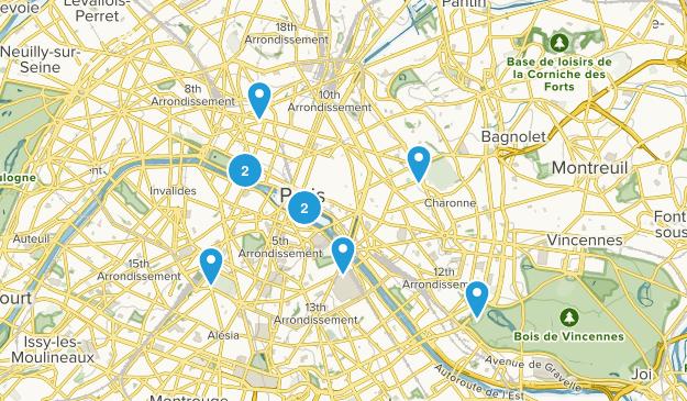 Paris, Île-de-France Map