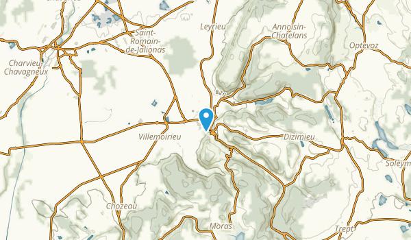Crémieu, Isère Map