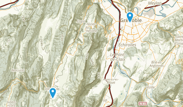 Grenoble, Isère Map
