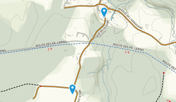 Bougue, Landes Map