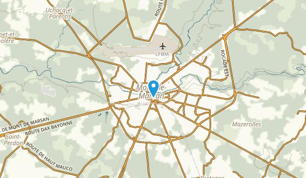 Mont-de-Marsan, Landes Map