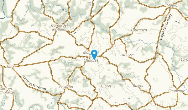 Montfort-en-Chalosse, Landes Map