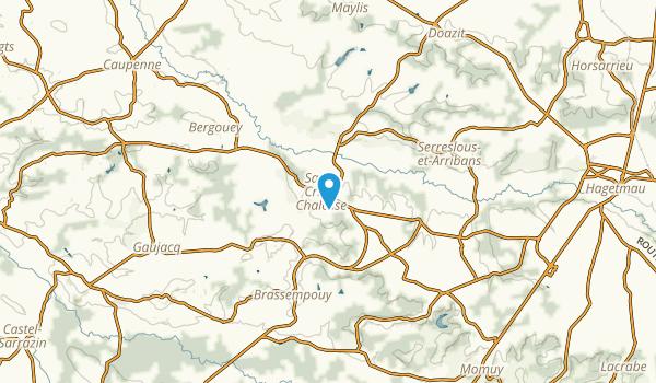 Saint-Cricq-Chalosse, Landes Map